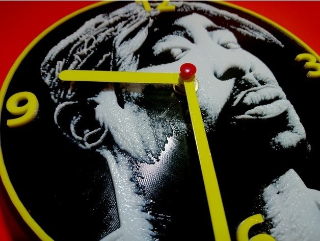 9a86c8cdbb85e9bbd48171b4c759dbef_preview_featured.jpg Download free STL file Tupac Clock • 3D printable template, 3dlito