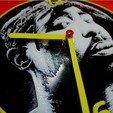 Free stl Tupac Clock, 3dlito