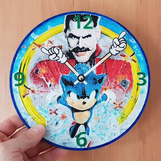 Télécharger fichier STL gratuit Reloj Sonic 3D • Objet à imprimer en 3D, 3dlito
