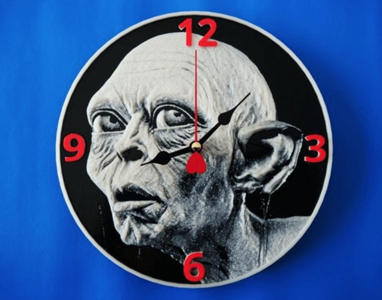 Capture d'écran 2018-03-30 à 17.15.18.png Download free STL file Gollum 3D clock • 3D printer template, 3dlito