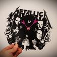 Descargar modelo 3D Reloj MetallicA , 3dlito
