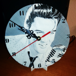 Free 3d printer model Reloj by pared Elvis Presley, 3dlito