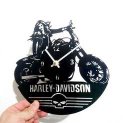 photostudio_1542133832482.jpg Download STL file Harley-Davidson 2 vinyl watch • 3D print design, 3dlito