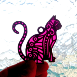Free stl Cat key ring, 3dlito