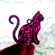 Free STL Cat key ring, 3dlito