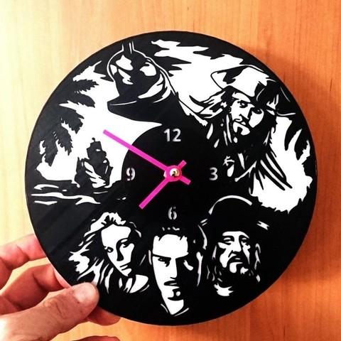 Télécharger fichier STL gratuit Reloj Piratas del Caribe • Plan à imprimer en 3D, 3dlito