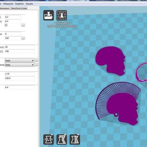 98b408700e4d8b3b39f9f9039540eae8_display_large.jpg Télécharger fichier STL gratuit Porte-clés tête de mort avec cheveux • Modèle pour imprimante 3D, 3dlito
