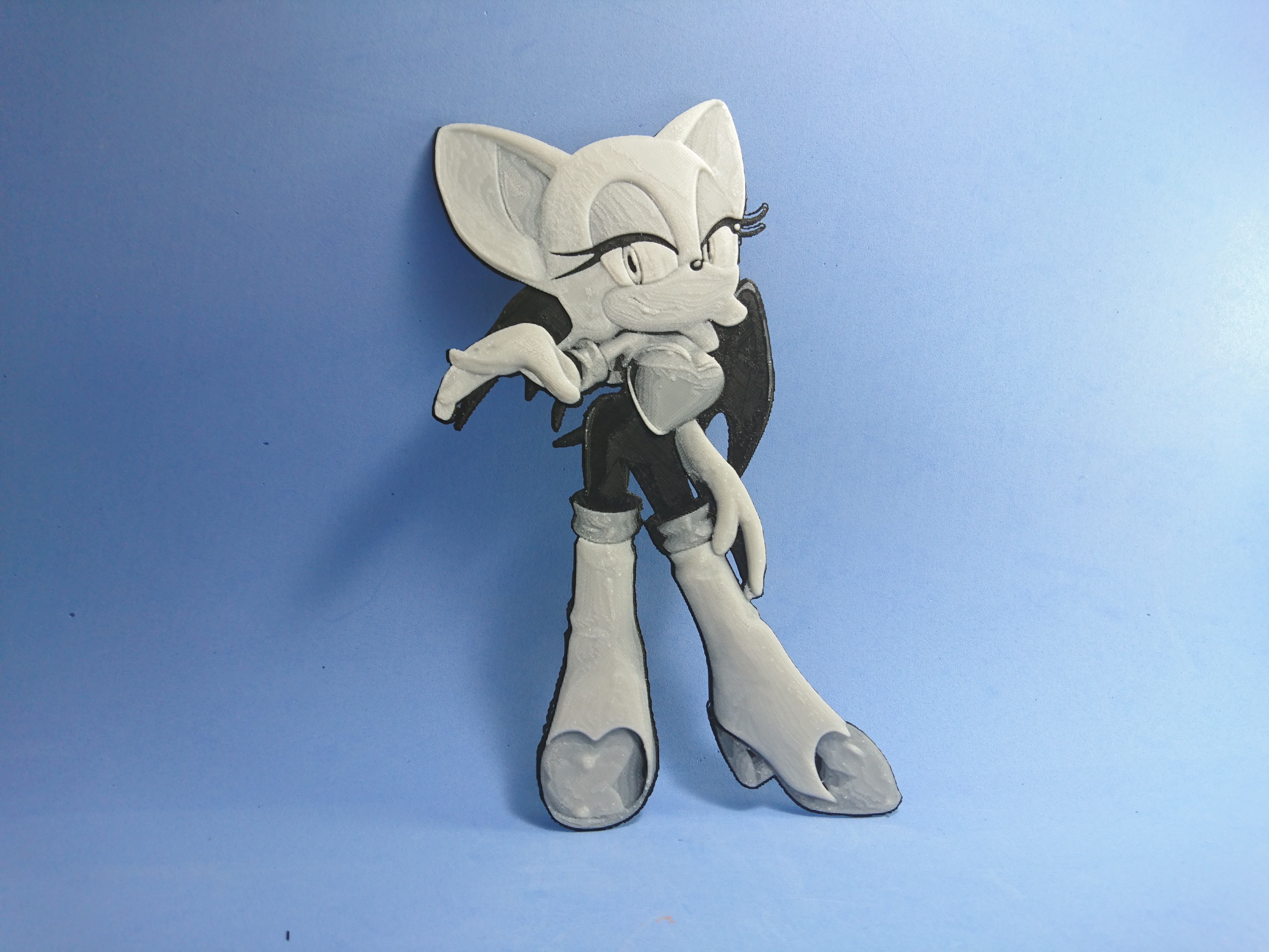DSC_0305.JPG Download free STL file Drawing / Drawing 3D Rouge (sonic) • 3D printable template, 3dlito