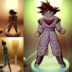 Imprimir en 3D gratis Lampara DRAGON BALL, 3dlito