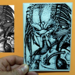 Free 3D printer files PREDATOR 3D DRAWING, 3dlito