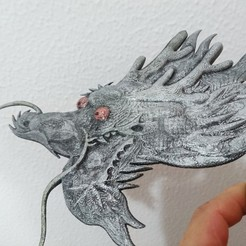 Download free 3D printing templates Reloj Dragon en relieve, 3dlito