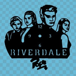 Download free 3D printer model RIVERDALE CLOCK, 3dlito