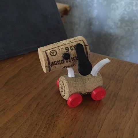 Diseños 3D Corky El Perro, ScooterPDX