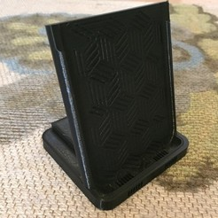Free 3D printer designs Qi Charger Stand for iPhone X, 8 and Android Phones, ScooterPDX
