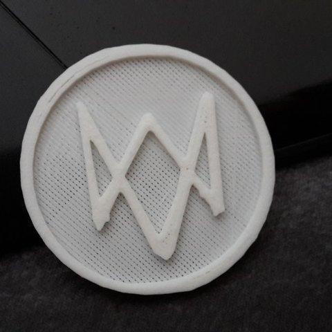 C93p1SzXUAErXO7.jpg Download free STL file Logo Watch Dogs • 3D print design, Arnaud1