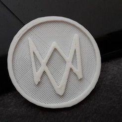 Download free 3D printer designs Logo Watch Dogs, Arnaud1