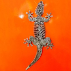 Download free 3D printing designs Gecko, Daniel117