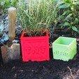Download free STL file Crash Bandicoot Plant Pot Crates  • 3D print model, HD3DP