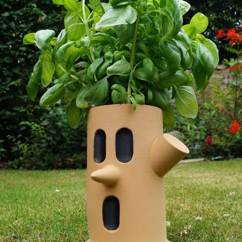 DSC09716 copy.jpg Download free STL file Kirby Whispy Woods Plant Pot • 3D printing design, HD3DP