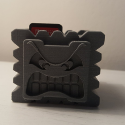 Download free 3D printing files Thwomp Switch Cartridge Case, HD3DP