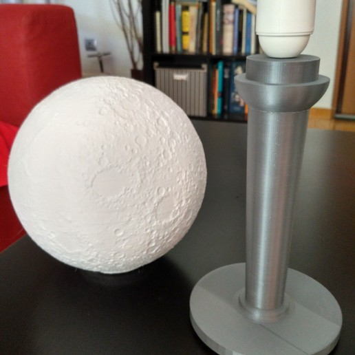 Download STL files moon lamp e27, ncostis