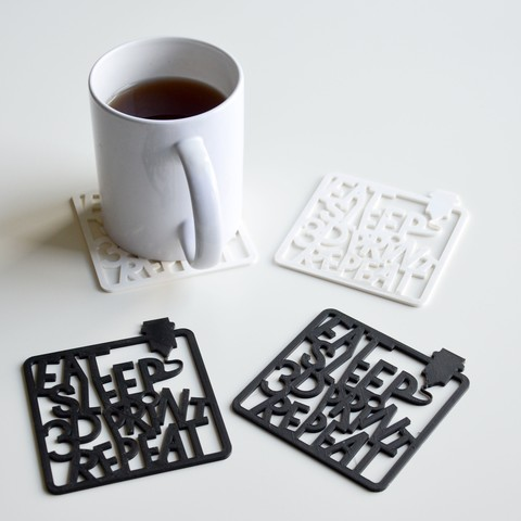 Free 3D model eat sleep 3d Print repeat, LordTailor