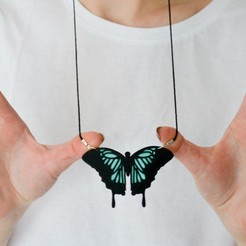 Free 3d printer designs Butterfly Necklace, LordTailor