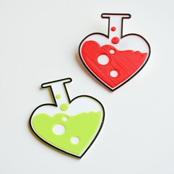 Free STL Love chemistry brooch/pin , LordTailor