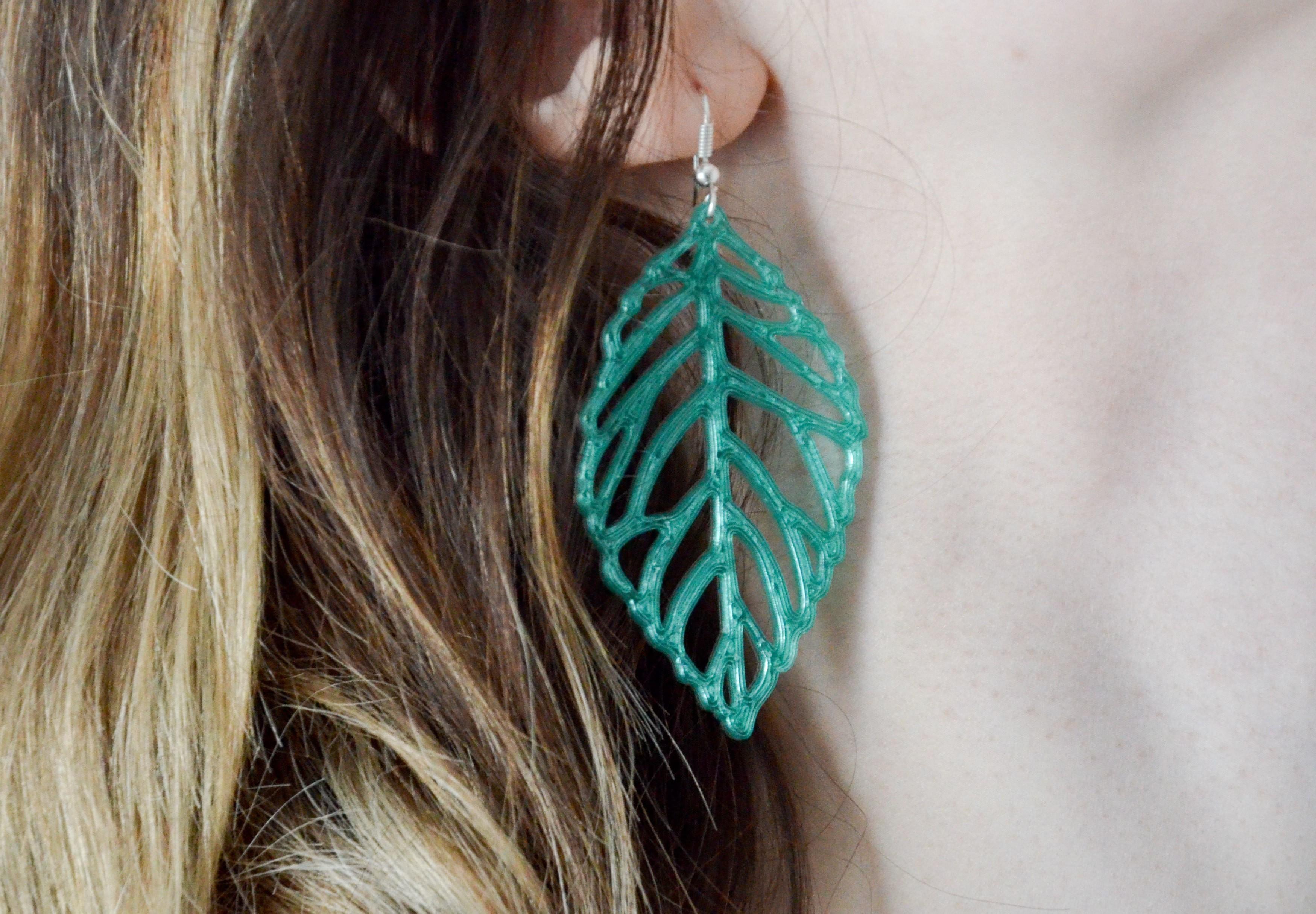 3.jpg Download free STL file   leaves earrings • 3D print object, LordTailor