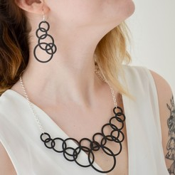 Download free 3D printing templates Bubble Jewelry Set, LordTailor