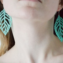Free STL files   leaves earrings, LordTailor