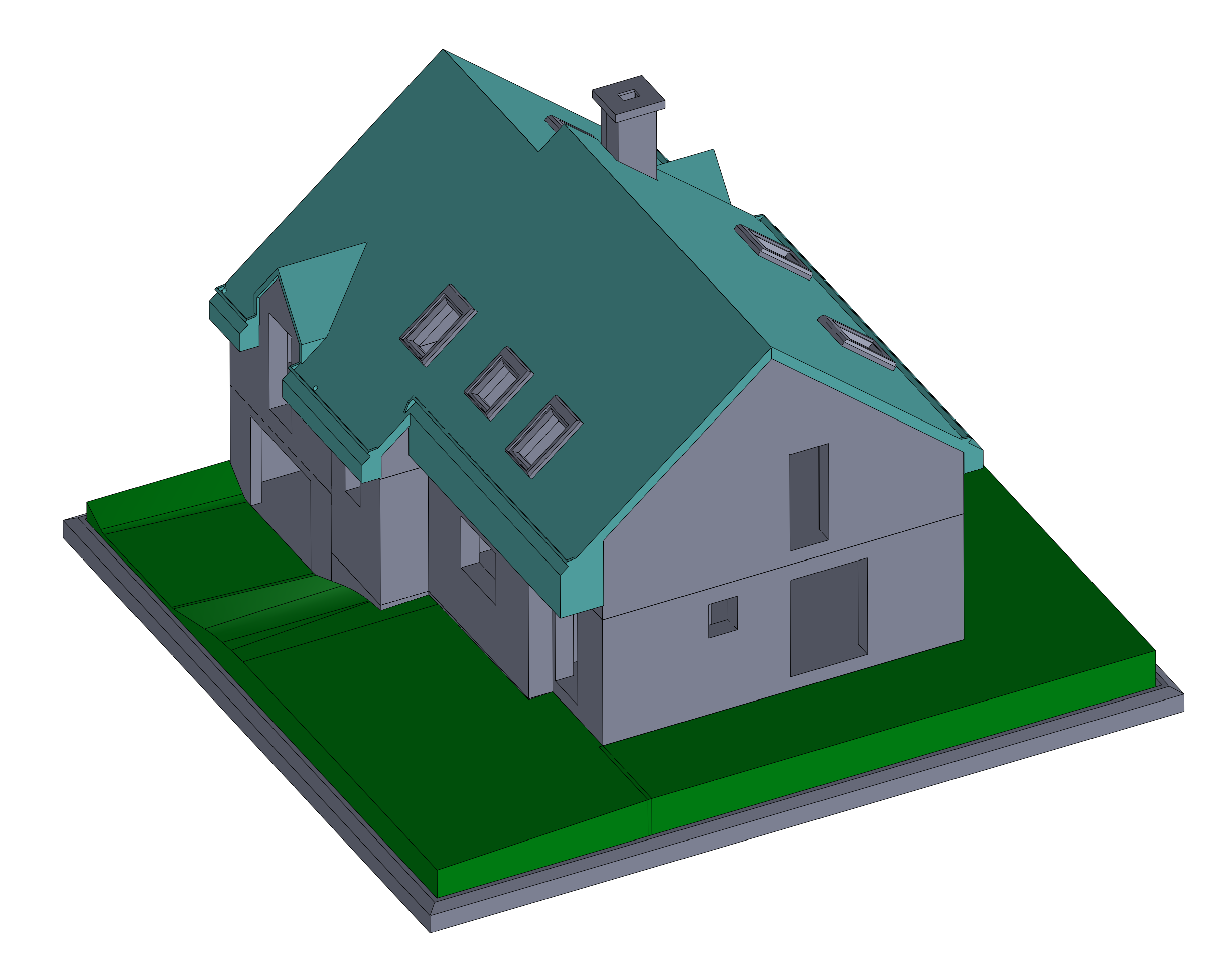assemblage_maison_montee_1.png Download free STL file Semi-detached house • 3D printer model, mcbat