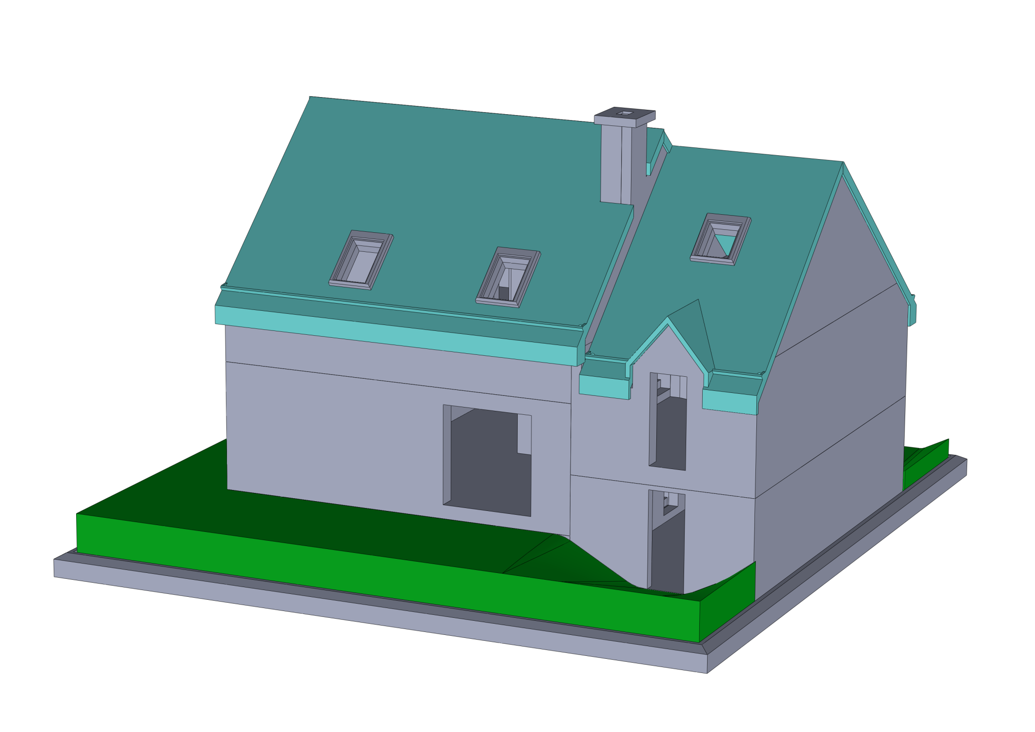 assemblage_maison_montee_3.png Download free STL file Semi-detached house • 3D printer model, mcbat
