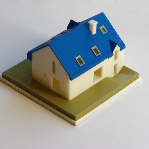 IMGP4610_DxO_red.jpg Download free STL file Semi-detached house • 3D printer model, mcbat