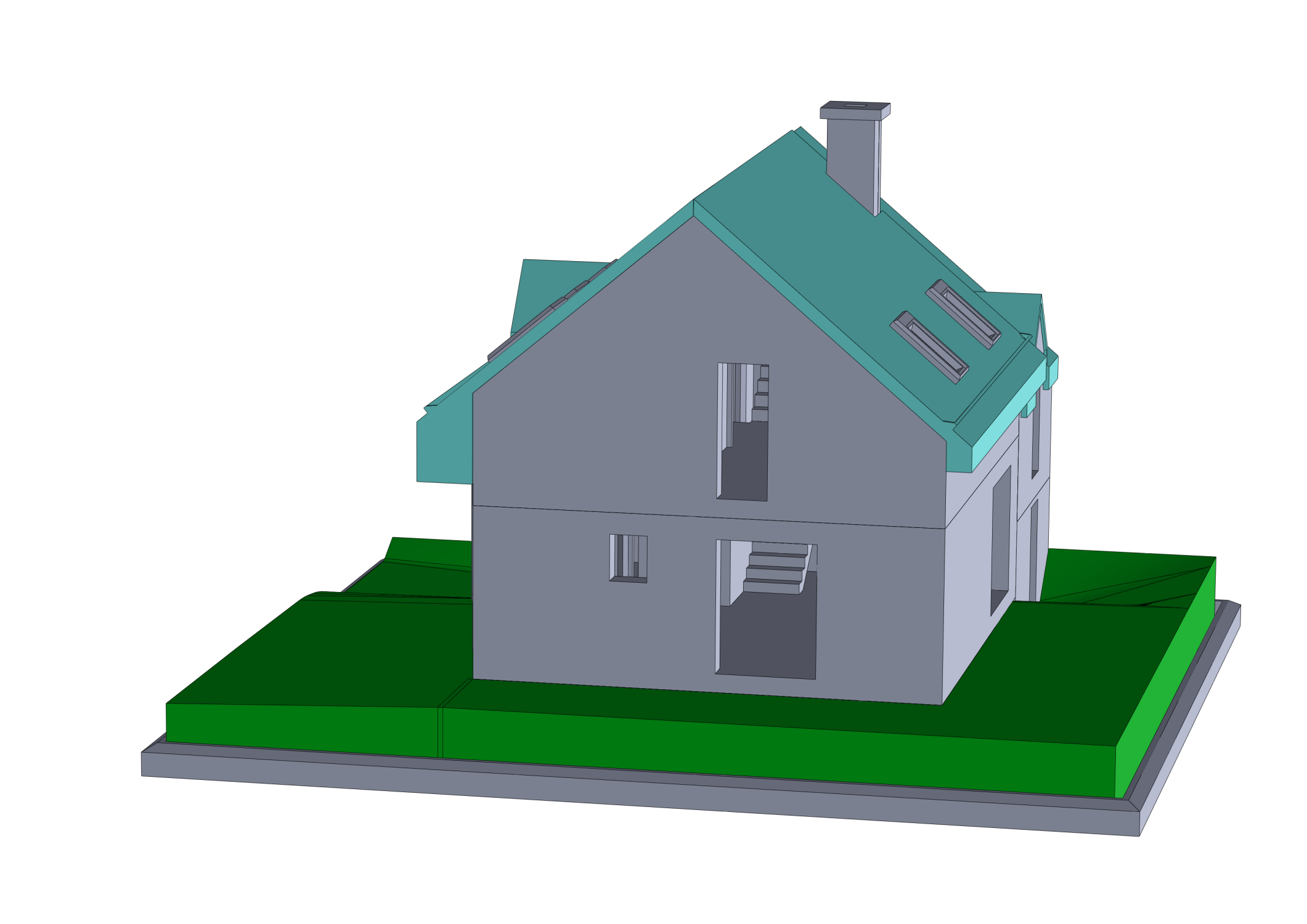 assemblage_maison_montee_2.png Download free STL file Semi-detached house • 3D printer model, mcbat