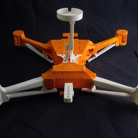 IMG_8930.jpg Download STL file Folding Quadcopter 450 Frame • 3D print object, AleksandrDolzhenko