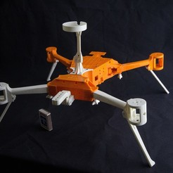 Download STL file Folding Quadcopter 450 Frame • 3D print object, AleksandrDolzhenko
