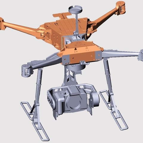 3D printer files FOLDING QUADCOPTER 700 FRAME with steadycam, AleksandrDolzhenko