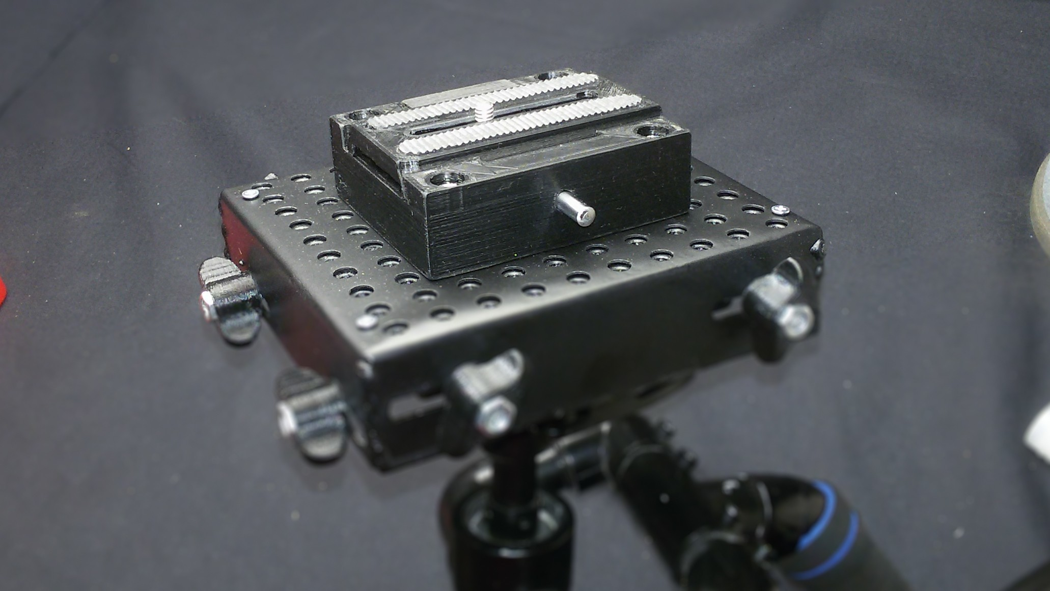 20190121_004431.jpg Download free STL file Quick Release Adapter (Manfrotto style) with Sliding Plate (501PL)  for steadycam / tripod / monopod • 3D print model, AleksandrDolzhenko