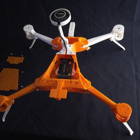IMG_8953.jpg Download STL file Folding Quadcopter 450 Frame • 3D print object, AleksandrDolzhenko