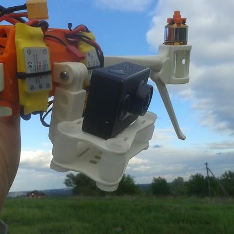 2017-06-03 18.56.37.jpg Download STL file Folding Quadcopter 450 Frame • 3D print object, AleksandrDolzhenko