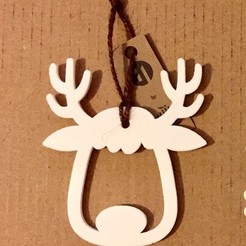 3d printer designs XMAS REINDEER, Lally