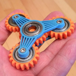 Free 3D print files Gear spinner, bda