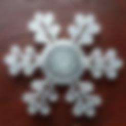 Free STL Snowflake spinner, bda