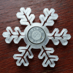Download free STL Snowflake spinner, bda