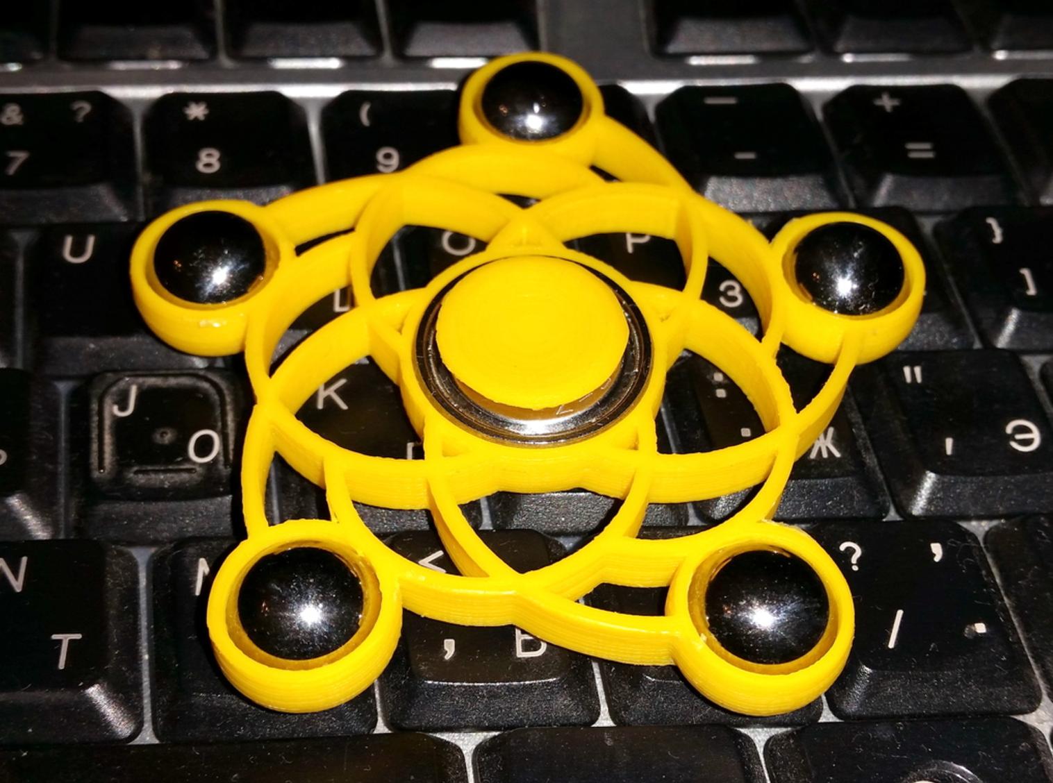 Capture d'écran 2017-04-18 à 14.29.00.png Télécharger fichier STL gratuit Spiral five balls spinner • Modèle imprimable en 3D, bda