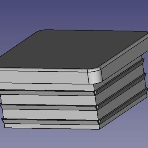 Descargar modelos 3D gratis Cap para 50mm tubo cuadrado, db42