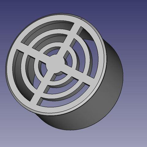 Download free STL file Exhaust grille dia100mm • 3D printer design, db42