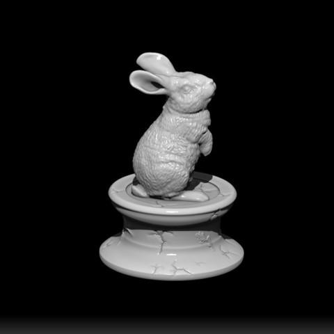 Download STL file RABBIT • 3D printer object, Rias3d