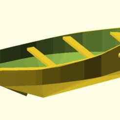 Fichier STL canot breton misainier, Rias3d